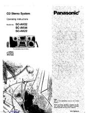Panasonic SB-AK44 Manuals