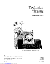 Technics SC-CH610 Manuals