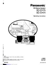Panasonic SA-CH75 Manuals