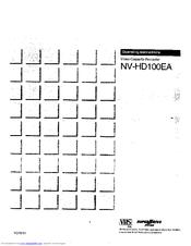 Panasonic NV-HD100EA Manuals