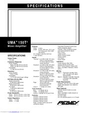 Peavey UMA 150T II Manuals