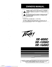 Peavey XR-800C Manuals