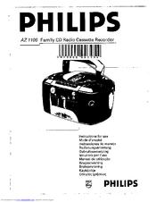 Philips AZ1100 Manuals