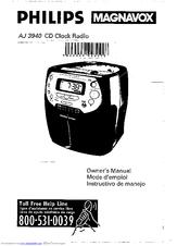Philips MAGNAVOX AJ 3940/17 Manuals