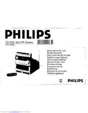 Philips FW316C/37 Manuals