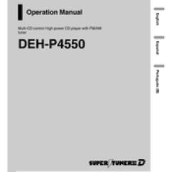 Pioneer Radio Manual 2002 Subaru Forester Exhaust Diagram Super Tuner Iii D Deh P4550 Operation Pdf Download
