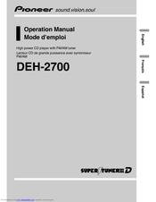 Pioneer DEH 2700 Manuals