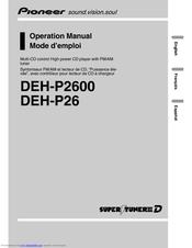 Pioneer P2600 DEH Radio CD Player Manuals