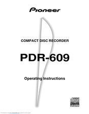 Pioneer PDR-609 Manuals