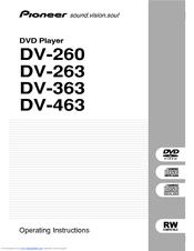 Pioneer DV-260 Manuals