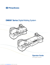 Pitney Bowes DM800 Series Manuals