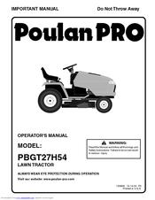 Poulan Pro PBGT27H54 Manuals