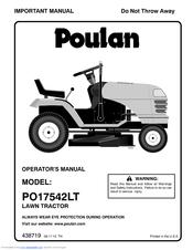Poulan Pro PO17542LT Manuals