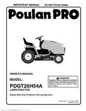 Poulan Pro PDGT26H54A Manuals