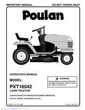 Poulan Pro PXT16542 Manuals
