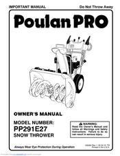Poulan Pro PP291E27 Manuals
