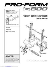 Proform C800 Manuals