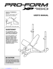 Proform XP 160 Manuals
