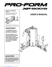 Proform XP 600 S Manuals