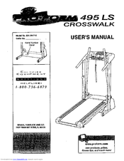 Proform 495 LS CrossWalk Manuals