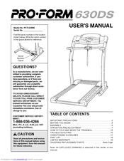 Proform 630 DS Manuals
