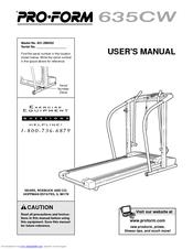 Proform 635CW Manuals