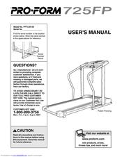 Proform 725FP PFTL69100 Manuals