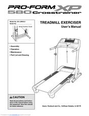 Proform XP 580 Crosstrainer Manuals