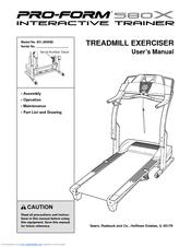 Proform 580x Interactive Trainer Manuals