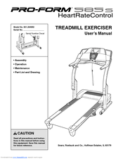 Proform 585s Treadmill Manuals