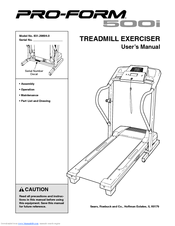 Proform 500i Treadmill Manuals