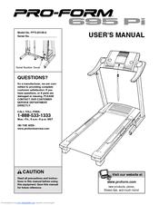 Proform 695 Pi Treadmill Manuals
