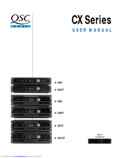 Qsc CX12T Manuals