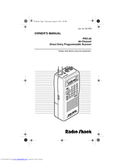 Radio Shack PRO-29 Manuals