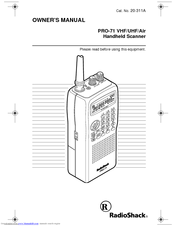 Radio Shack PRO-71 Manuals