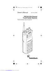 Radio Shack PRO-90 Manuals