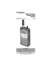 Radio Shack PRO-99 Manuals