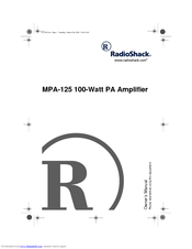 Radio Shack MPA-125 Manuals