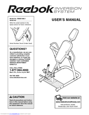 Reebok inversion table RBBE1996.1 Manuals