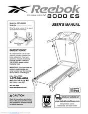 Reebok 8000 Es Treadmill Manuals