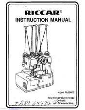Riccar RL634DE Manuals