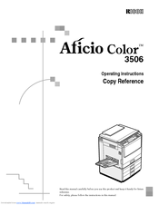 Ricoh Aficio Color 3506 Manuals