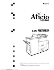 Ricoh Aficio 551 Manuals