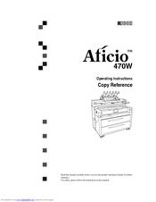 Ricoh Aficio 470W Manuals