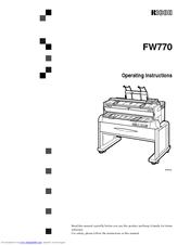 Ricoh FW770 Manuals