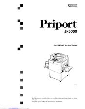 Ricoh Priport JP5000 Manuals
