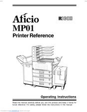 Ricoh AFICIO MP01 Manuals