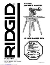 Ridgid RS1000 Manuals