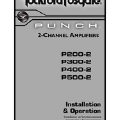 Rockford Fosgate Punch P200 2 Wiring Diagram Sentence Diagramming Adjectives Manuals Installation And Operation Manual