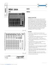 Samson MDR 1064 Manuals